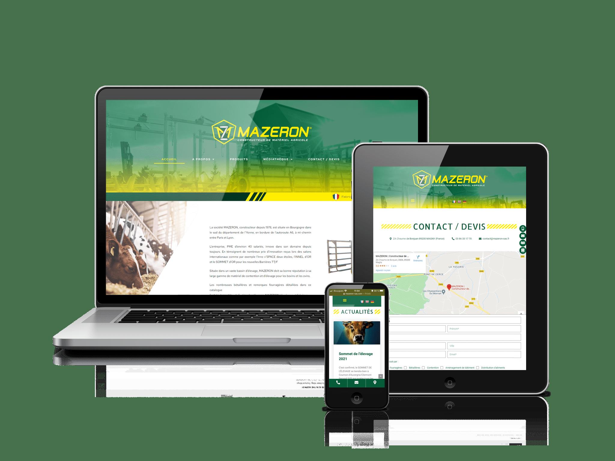 site internet MAZERON